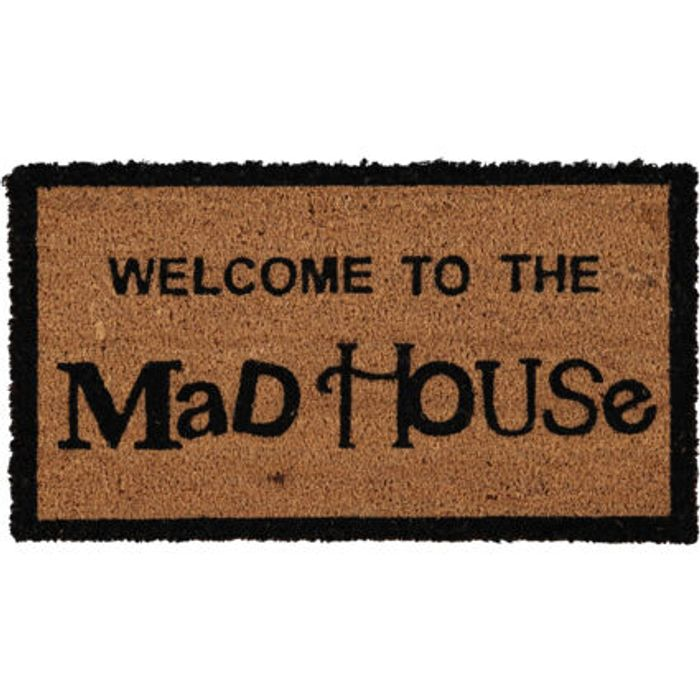 Mad House Welcome Mat 34x60cm