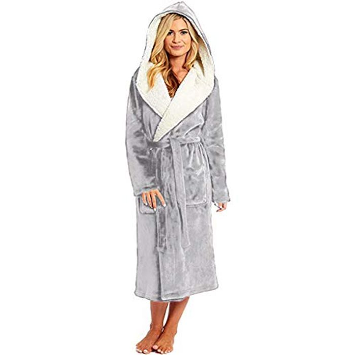 *SAVE over £29* Soft & Cosy Hooded Dressing Gown