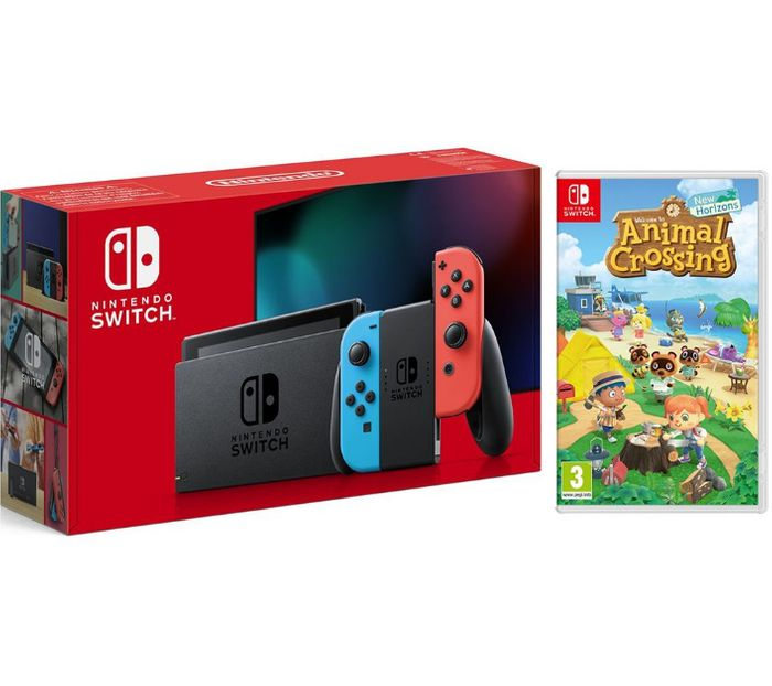 NINTENDO Switch Neon & Animal Crossing: New Horizons Bundle - Only £299!