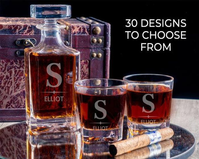 GIFT for HIM! PERSONALISED Decanter Gift,