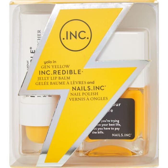 NAILS INC Gen Yellow Lip Balm & Nail Polish Set