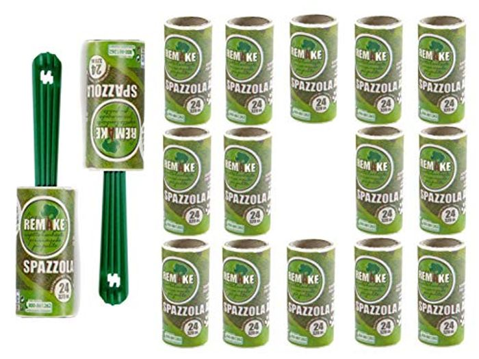 Lint Roller 95% Recycled Material - 16 Refill + 2 Handle