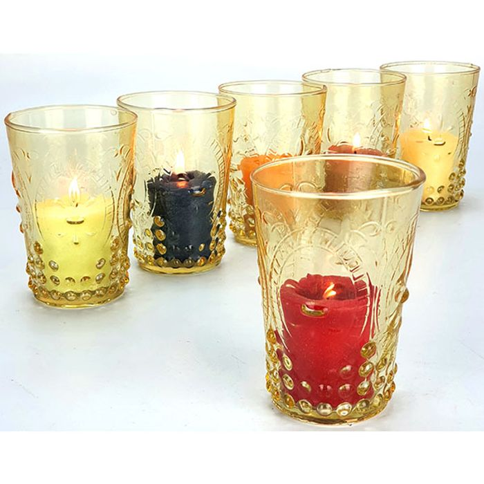 6 X YANKEE VOTIVE CANDLE HOLDERS - £3 Delivered from Yankee Bundles