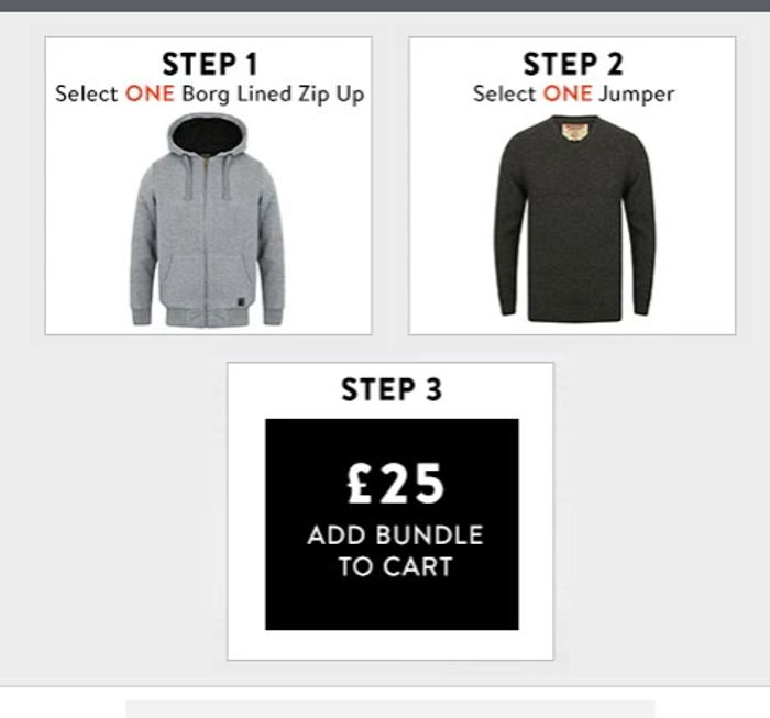 Borg Lined Zip up + Lambswool Jumper for £25!
