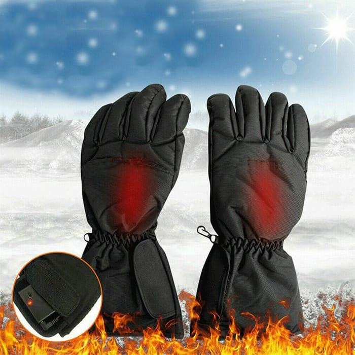 Electric Waterproof Heated Gloves W/ Touch Screen Sensor