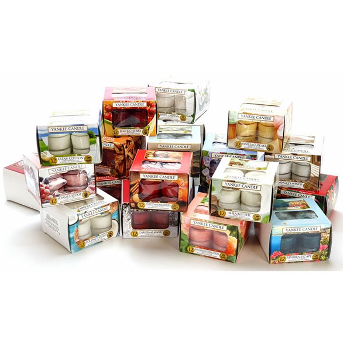 5 Boxes Yankee Candle Assorted Tealights (60 Candles)