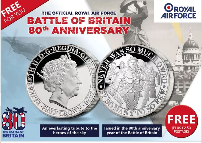 Free Battle Of Britain Coin *Just Pay P&P