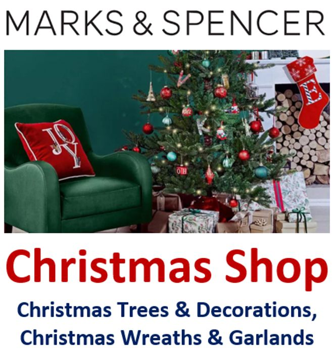 M&S Christmas Shop - Open Online