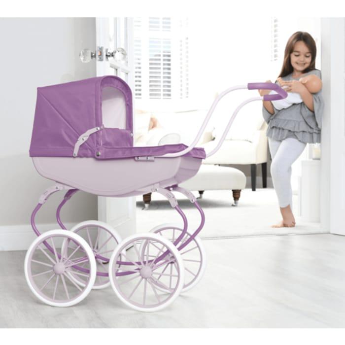 Carriage Pram - Purple - Only £29.99!