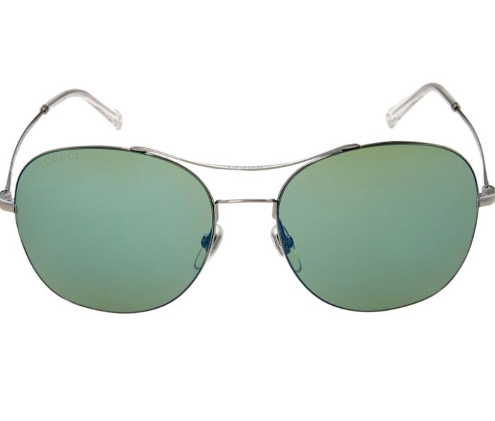 GUCCI Silver Tone Aviator Sunglasses - Only £64!
