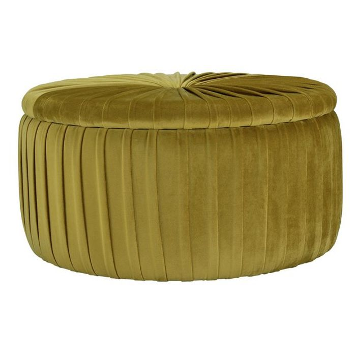 Argos Home Leckie Velvet Storage Footstool - Gold