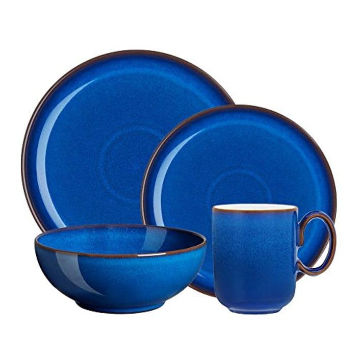 Denby IMP-100B Imperial Blue Kitchen Collection 4 PC Set, Stoneware