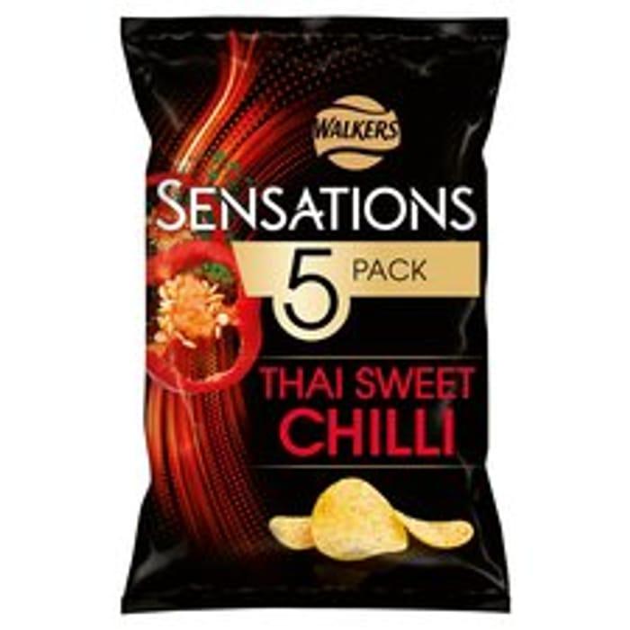 Walkers Sensations Thai Sweet Chilli Crisps 5X25g, Clubcard Price