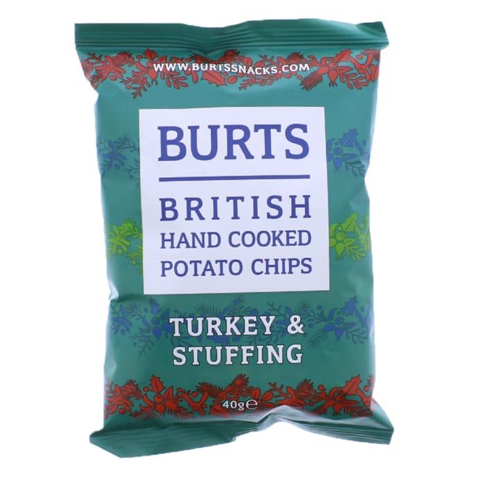 Burts Potato Chips Turkey & Stuffing (Case of 20x 40g)