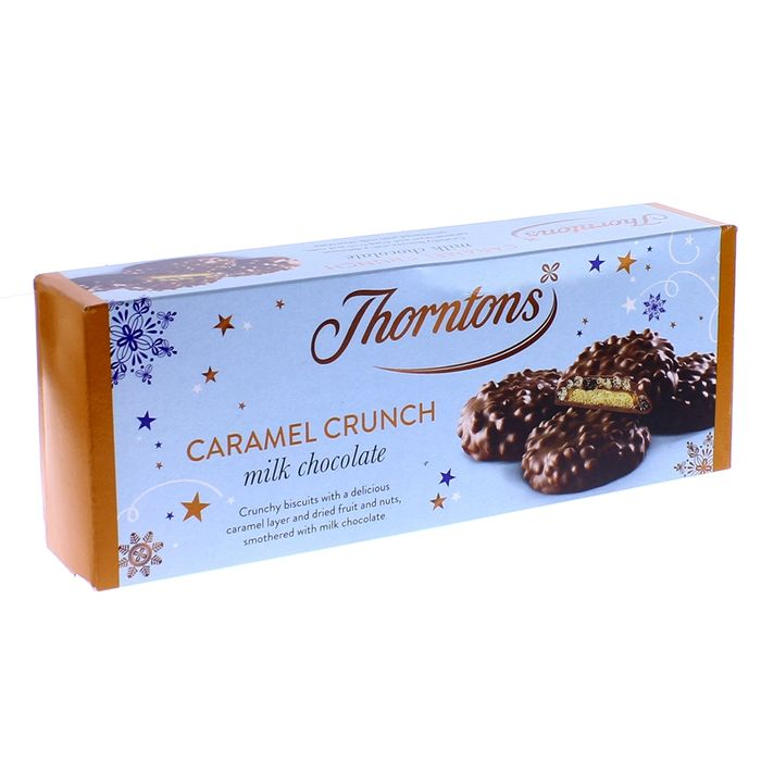 Thorntons Caramel Crunch Milk Chocolate Biscuits 140g (Case of 10)