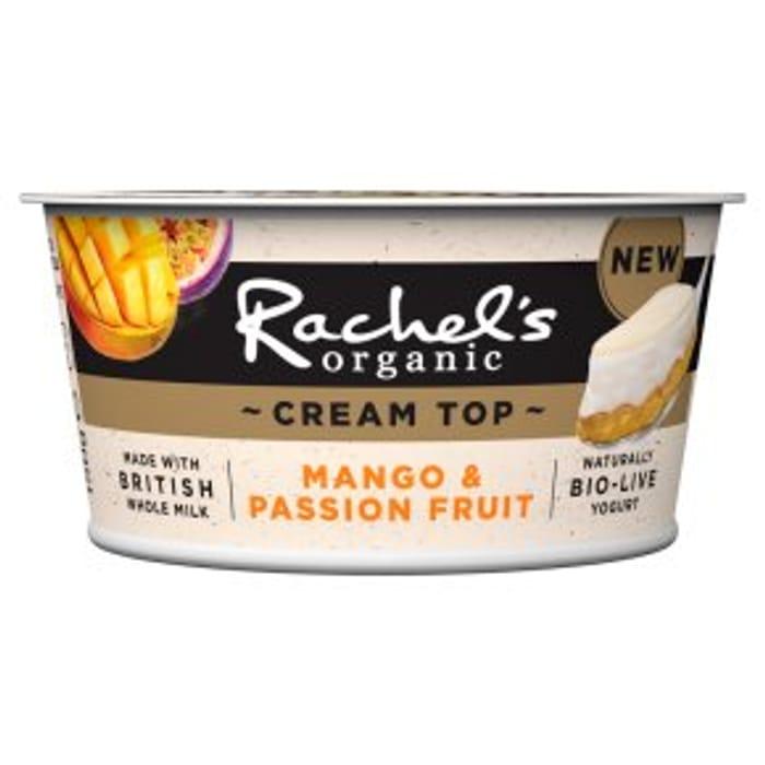 Rachel's Organic Cream Top Mango & Passion Fruit Yogurt150g