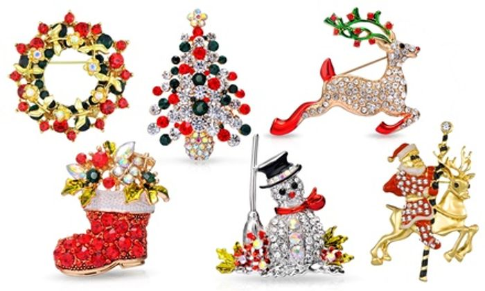 Up to Six Philip Jones Christmas Brooches in Choice of Design