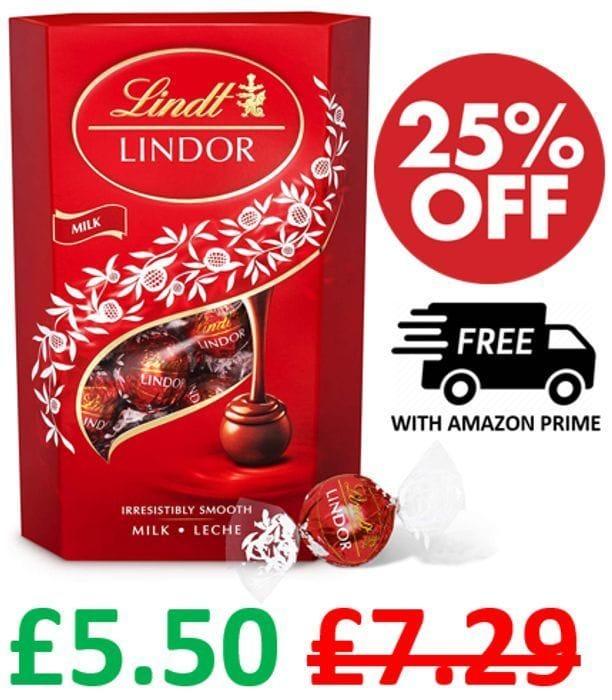 Lindt Lindor Milk Chocolates - 26 Balls / 337g + FREE PRIME DELIVERY!