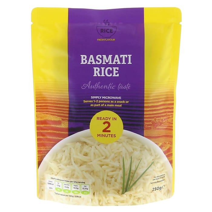 Basmati Rice Microwavable Packet (12 X 250g) 49p per Packet