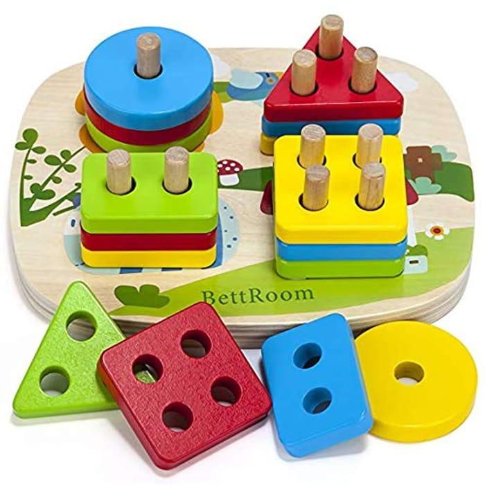 Solid Wood Preschooler Shape Color