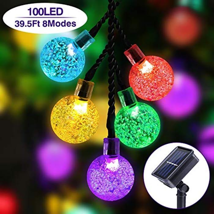 Bargain! 60% Off Solar Led String Christmas Lights 39.5ft