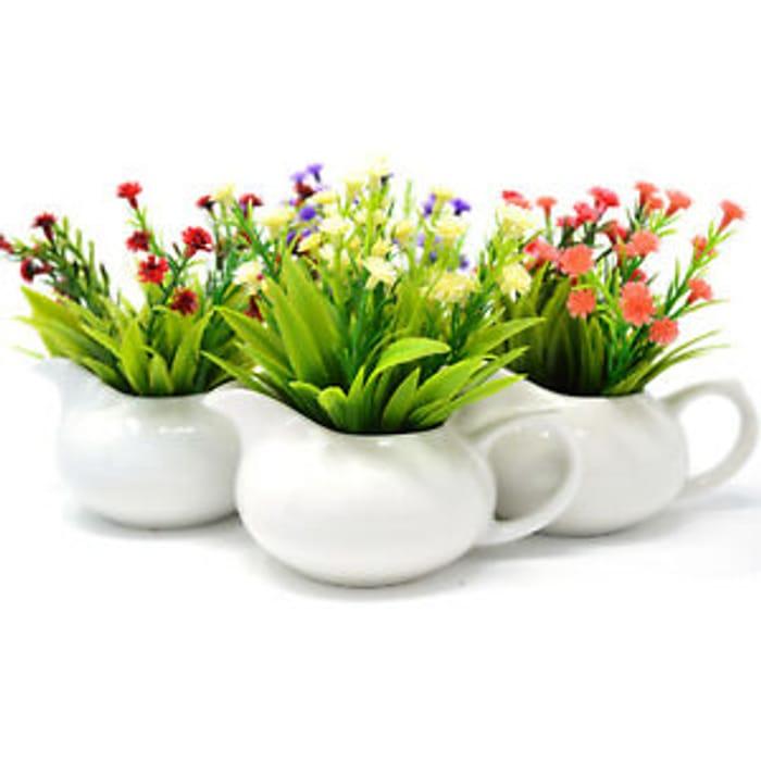 Best Price! Set of 4 Artificial Flower Pot Jug 12cm
