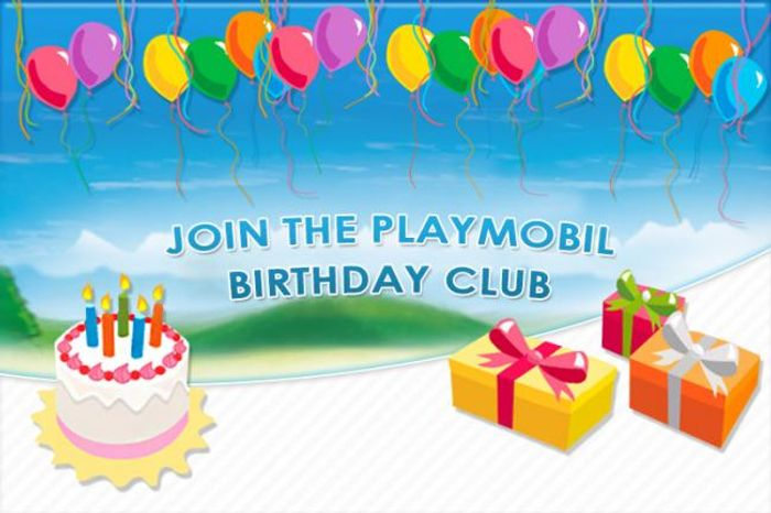 Join the PLAYMOBIL Birthday Club