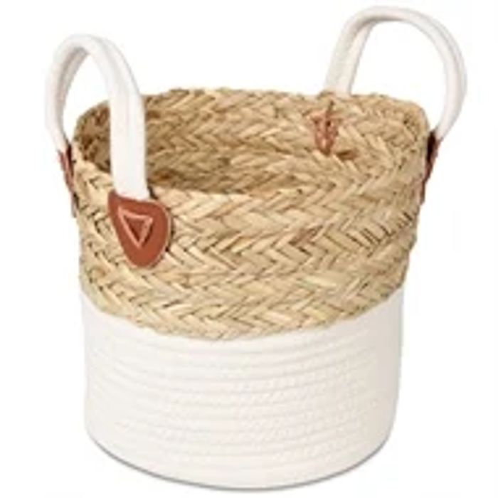 Small Rope Storage Basket - White Base