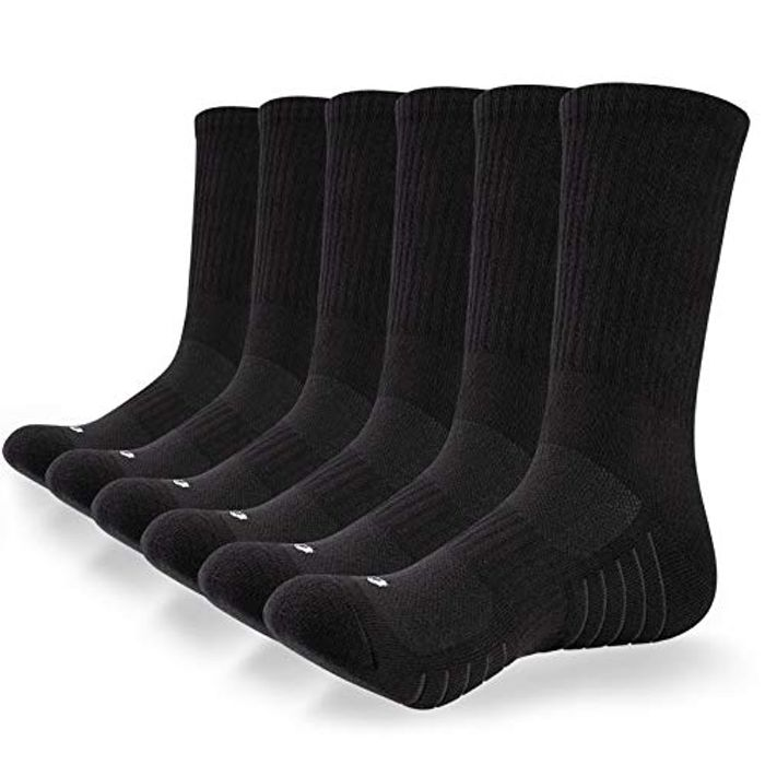Save 60%- Coskefy Cushioned Sports Socks - 6 Pairs