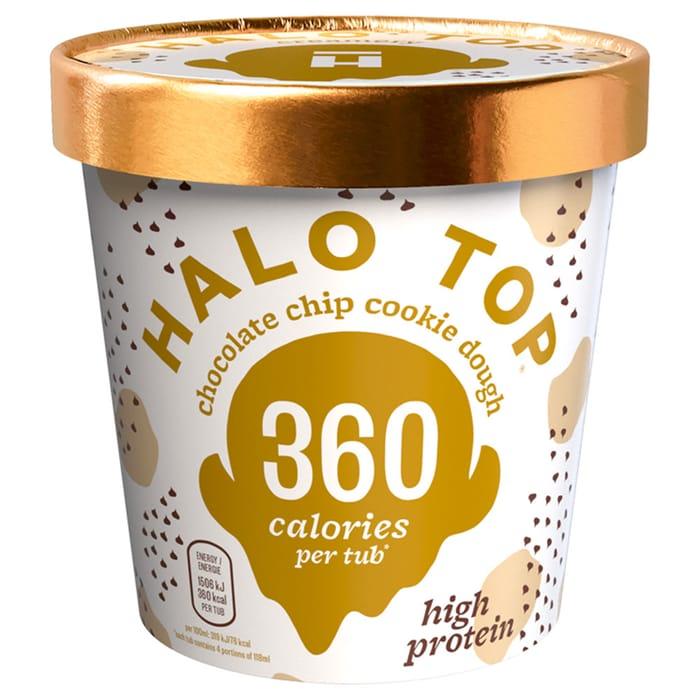 Halo Chocolate Chip / Birthday Cake/Peanut Butter Low Calorie Ice Cream 473ml