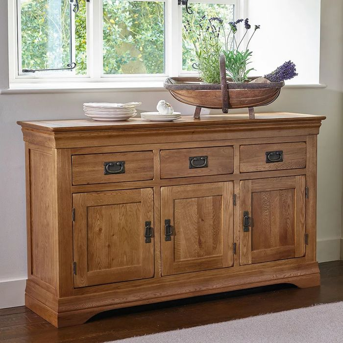 Cheap FRENCH FARMHOUSE Rustic Solid Oak Large Sideboard at Oakfurnitureland