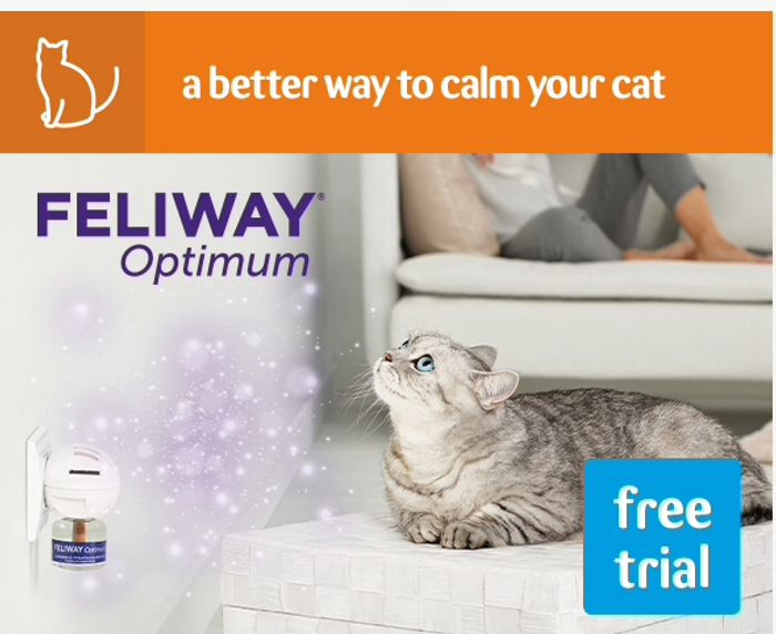Feliway Optimum, Chance to Try It for Free.