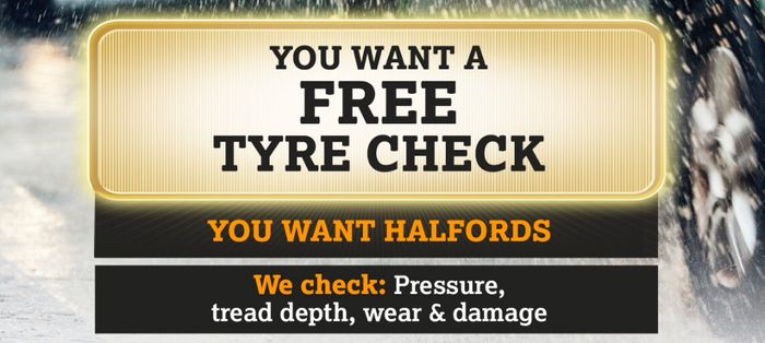 Free Tyre Check at Halfords