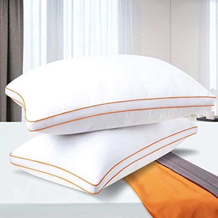 50% off 2-Pack Down Alternative Bed Pillow for Sleeping