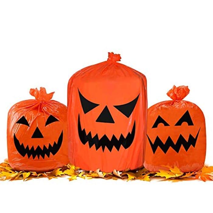 Deal Stack! Halloween Pumpkin Plastic Trash Bags