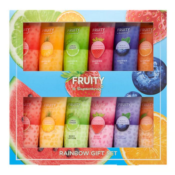 Best Price! Superdrug Fruity Rainbow Shower Gel & Body Lotion Gift Set