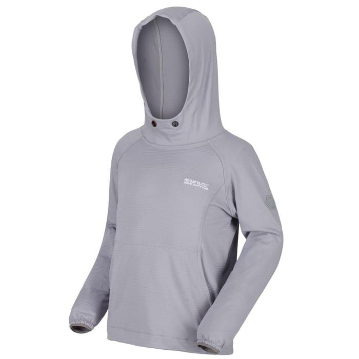 Regatta - Grey 'Eugina' Ribbed Hooded Fleece