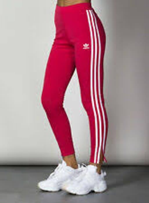 Adidas Originals Womens 3 Stripes Leggings Energy