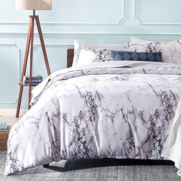 Save 50%- Bedsure Printed Duvet Cover Set (Code Works on All Colors & Sizes)