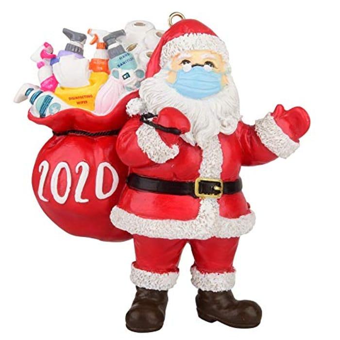 DEAL STACK - 2020 Christmas Ornament Santa Claus (2PC)