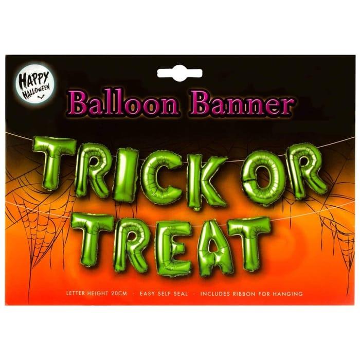 Halloween Balloon Banner