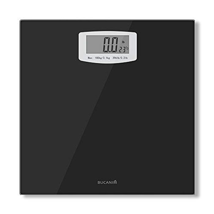 Bathroom Scale with Temperature Function Digital Body Weight Scales 180KG