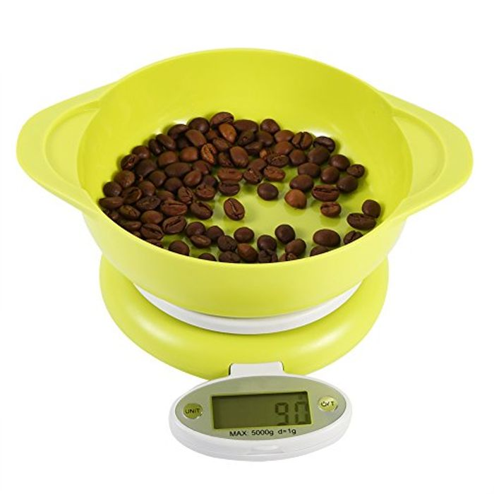 Electronic Digital Kitchen Food Scales Weighing LCD Display with Bowl 5Kg