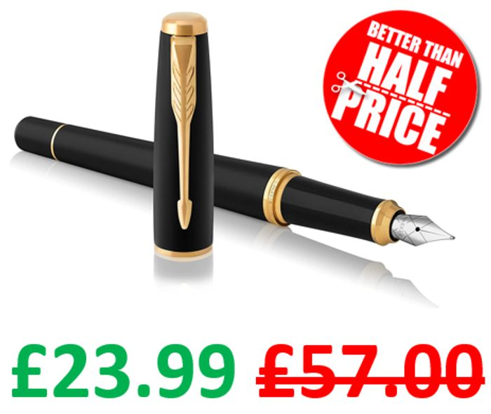 PRICE DROP! Parker Urban Fountain Pen   Muted Black with Gold Trim