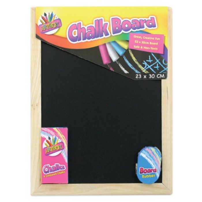 Chalkboard and 4 Chalk Sticks