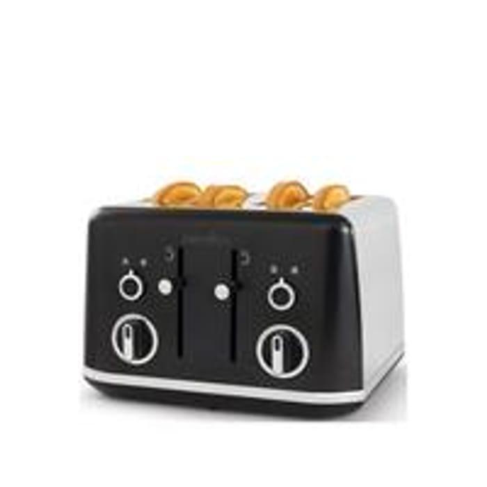 Breville Lustra Matt Black 4-Slice Toaster