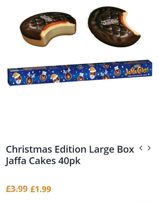 Xmas Edition Large Box Jaffa Cakes 40pk
