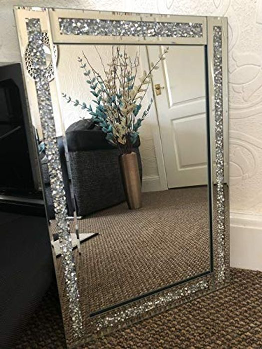 *Save 10%* Crystal Square Decor Mirror 60x40cm