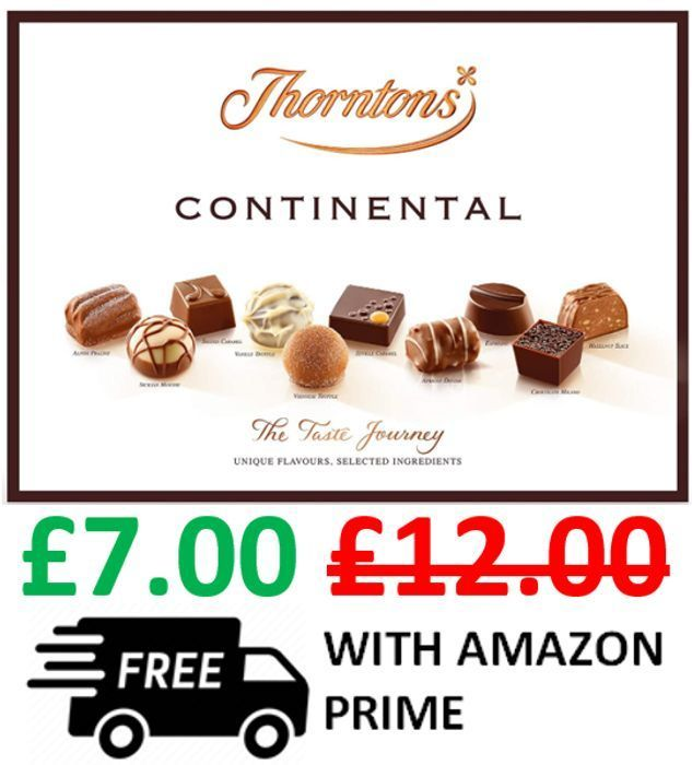Cheap Price at Amazon! Thorntons Continental Chocolate Box, 284g