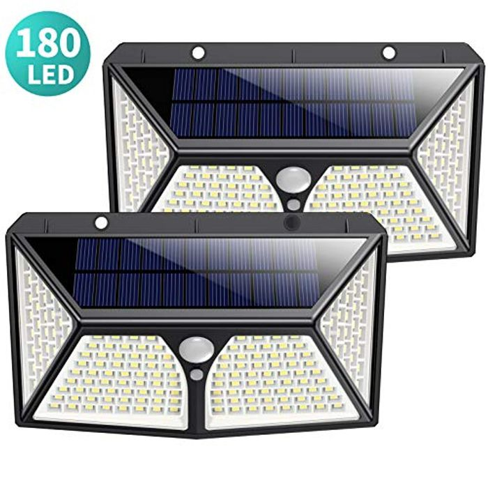 DEAL STACK - Solar Lights Outdoor 180 LED + £5 Coupon